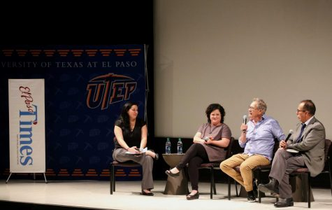 The El Paso Times Live held a panel, where they examined the U.S. and Mexico border on Thursday, June 7 at the UTEP Union Cinema, with Mexico border correspondent for the Dallas Morning News Alfredo Corchado, Director of the Rubin Center Kerry Doyle, author Benjamin Saenz and El Paso Times Editor Zahira Torres.