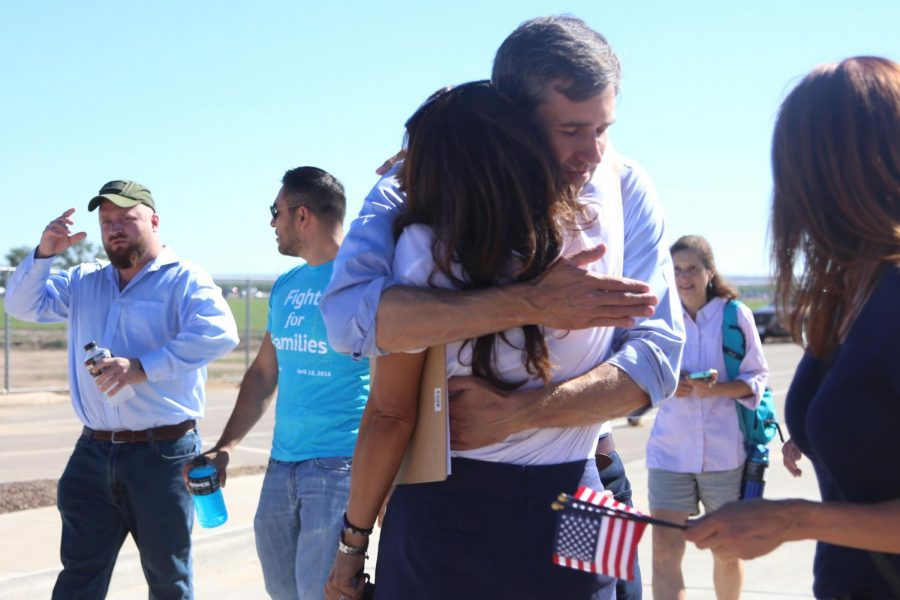 Congressman+Beto+O%27Rourke+hugs+Veronica+Escobar+before+they+start+marching+on+Sunday%2C+June+17.+