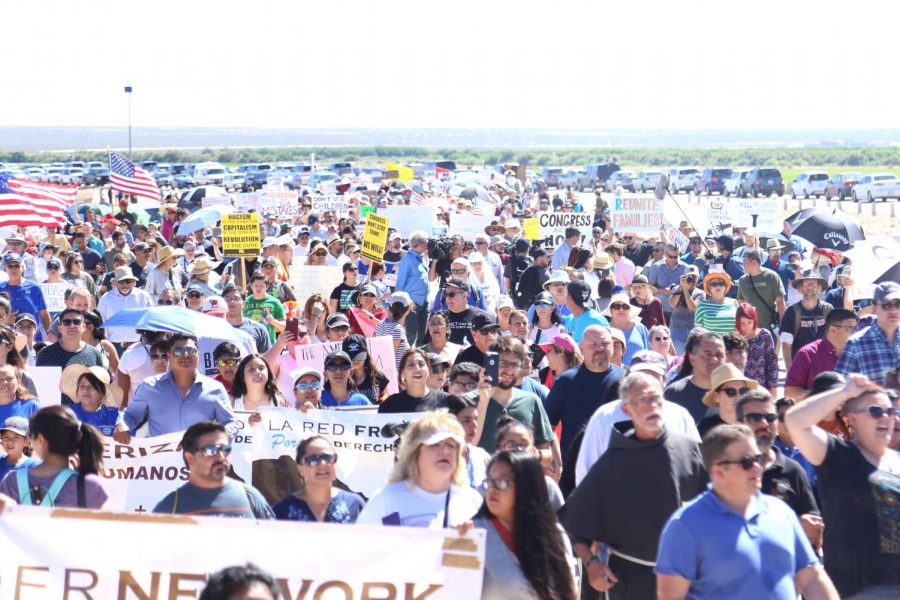 Hundreds came down to the Tornillo Port of Entry to support Beto O'Rourke in the March to Tornillo on Sunday, June 17.