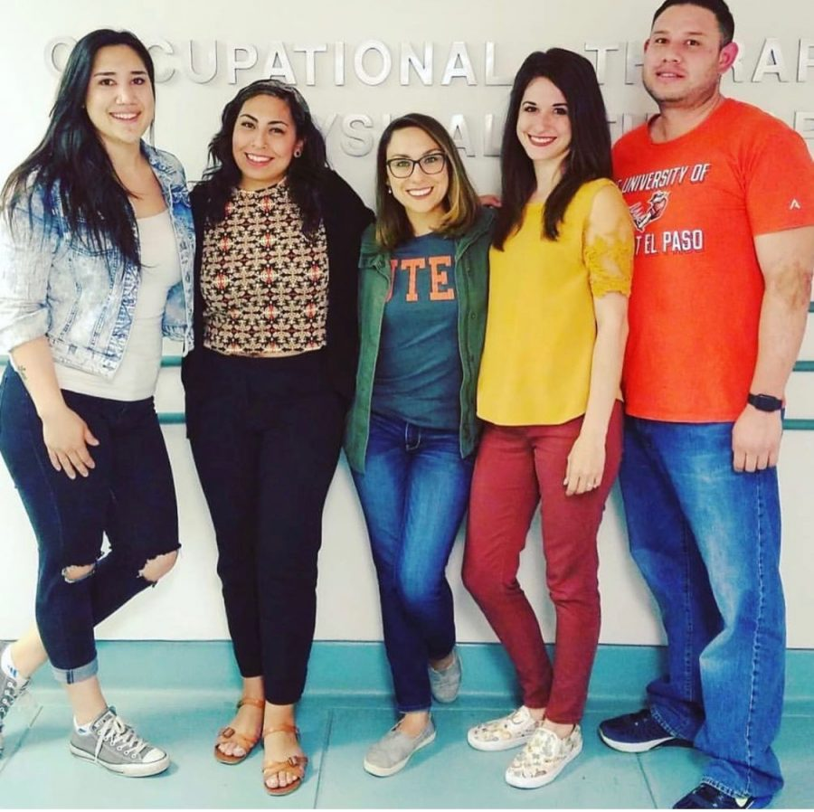 Members of the UTEP Student Occupational Therapy Association are collecting items at the Campbell Building to donate to the Annunciation House