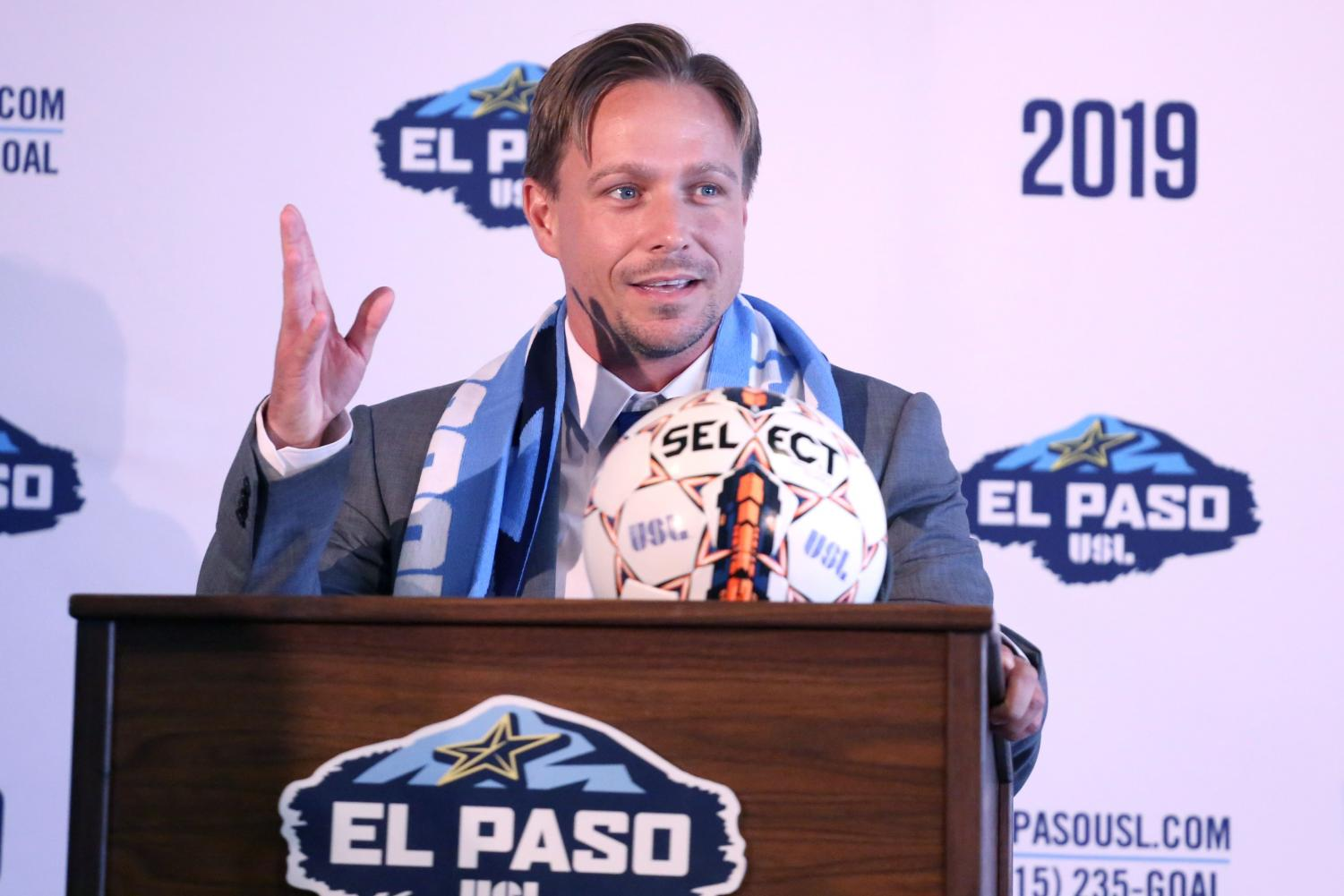 El Paso USL President, Alan Ledford, and General Manager, Andrew Forrest named Mark Lowry as the Head Coach and Technical Director for the team on Wednesday, July 25 at Southwest University Park.