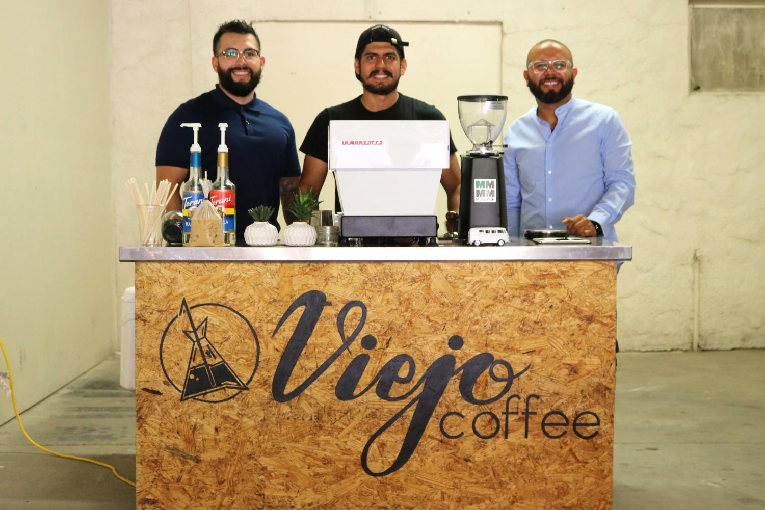 (From left to right) Ricardo Silva, Miguel De La Rocha, Jose Avélos are co-founders of Viejo Coffee.