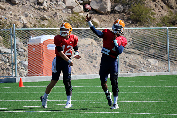 Who will be under center for the Miners to start the season?