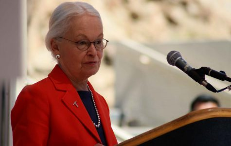 Dr. Diana Natalicio, president of UTEP, said a few words about the relationship between UTEP and Mexico.