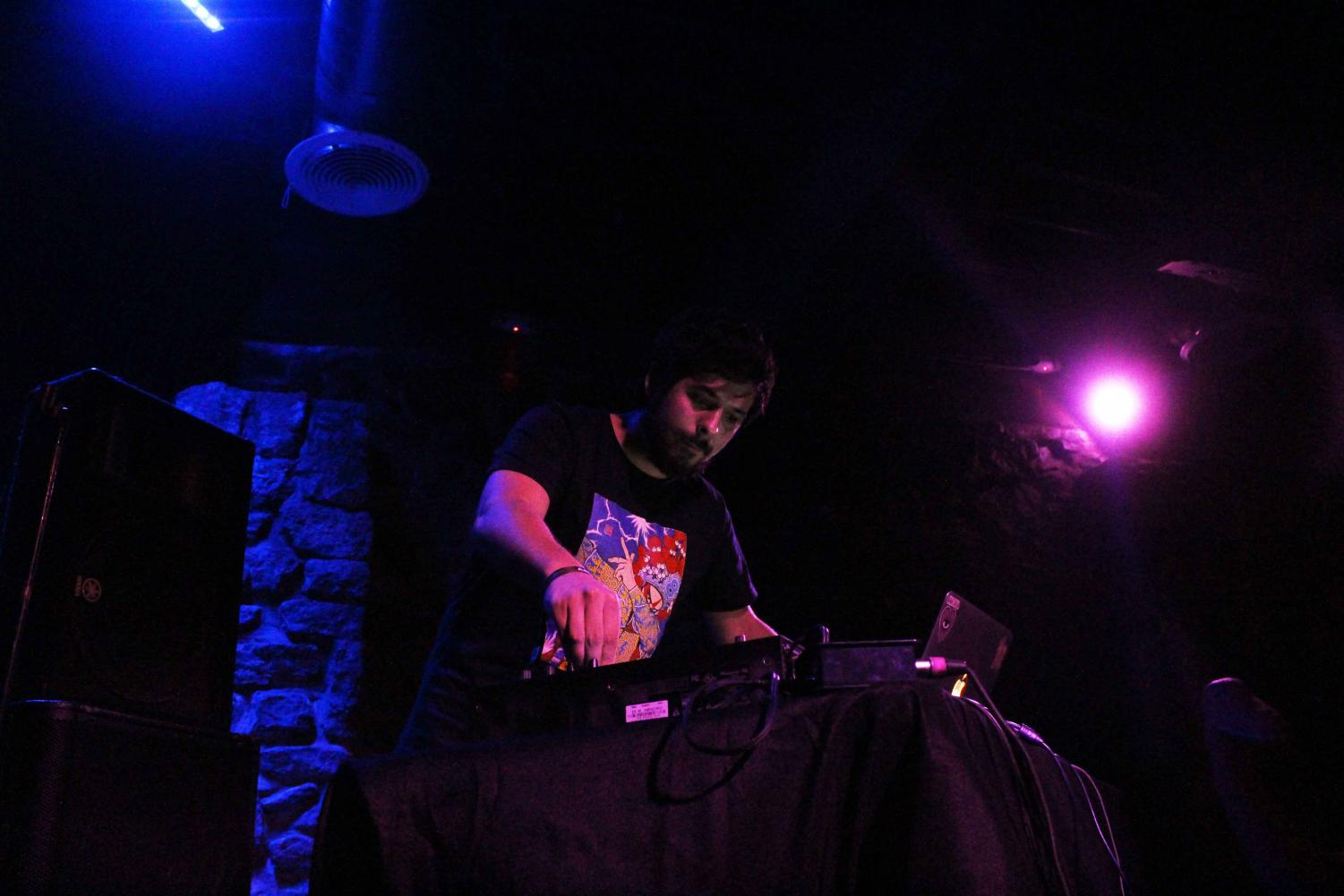 DJ Flamingosis performing at the Lowbrow Palace on Wednesday Sept. 12.
