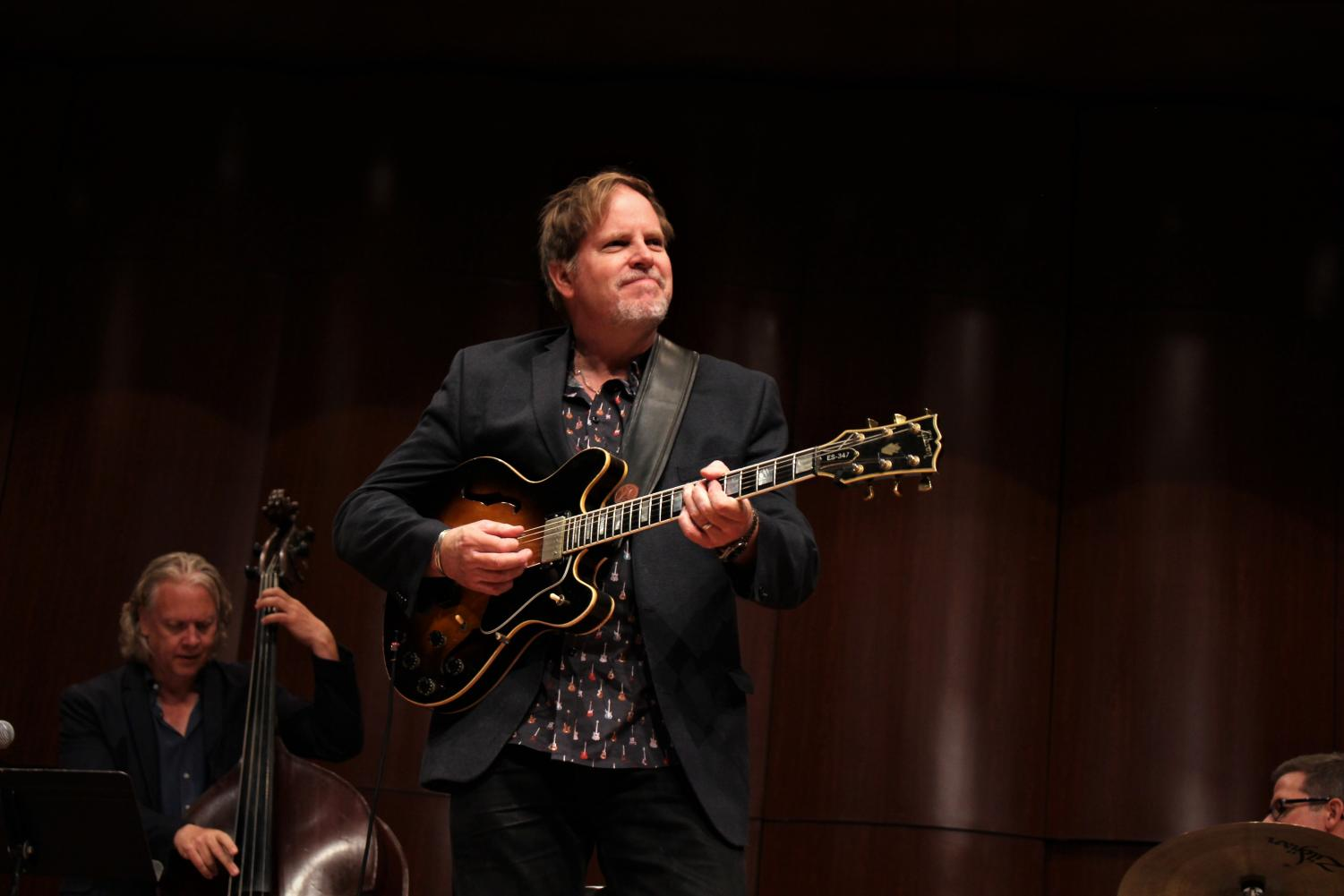 Dave Stryker performs with the UTEP commercial music faculty combo at Fox Fine Arts Recital Hall on Oct. 3, 2018.