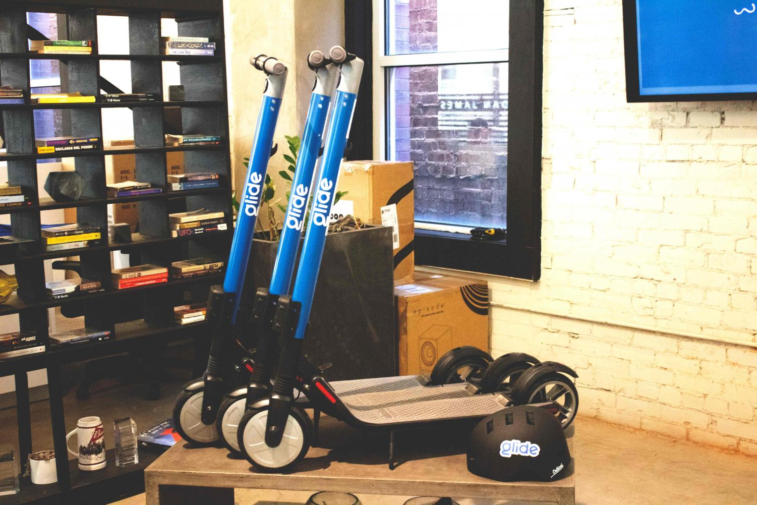 Glide scooters are similar to the electric scooters that have been popping up around the country, except Glide is a local start-up
