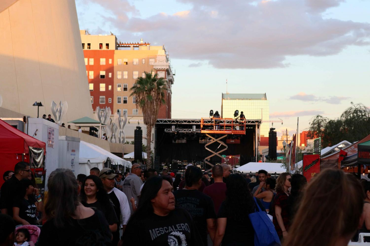 People enjoyed food and drinks from the food trucks at San Antonio street.