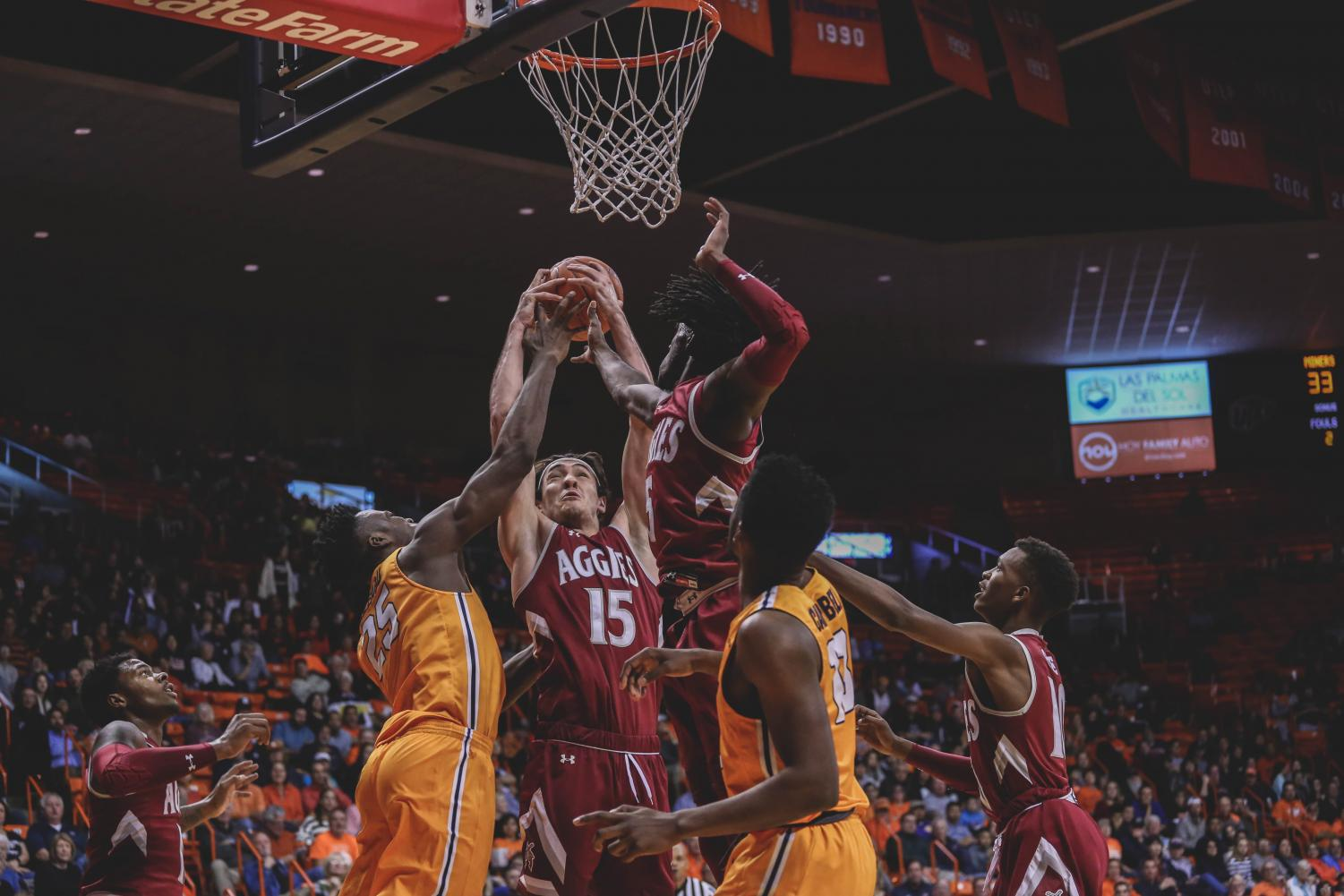 The+NMSU+Aggies+beat+the+Miners+at+the+battle+of+I-10+62-58+on+Wednesday%2C+Nov.+28+at+the+Don+Haskins+Center.+