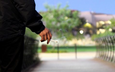 Although UTEP has instituted a tobacco-free policy, students still continue to smoke on campus.