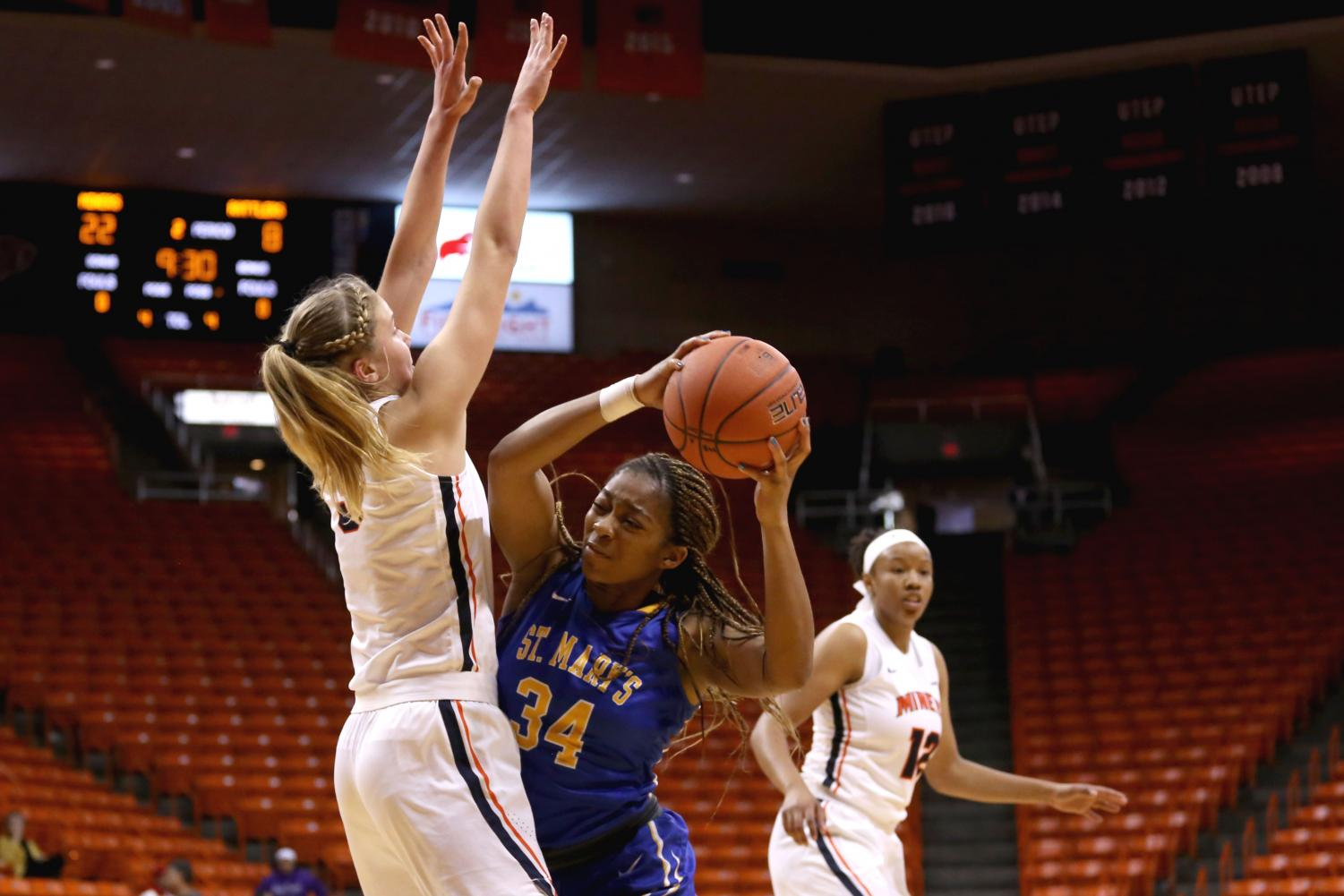 Junior forward Zuzanna Puc led the  Miners with 15 points at an exhibition game against the St. Mary's Rattlers on Sunday, Nov. 4 at the Don Haskins Center.