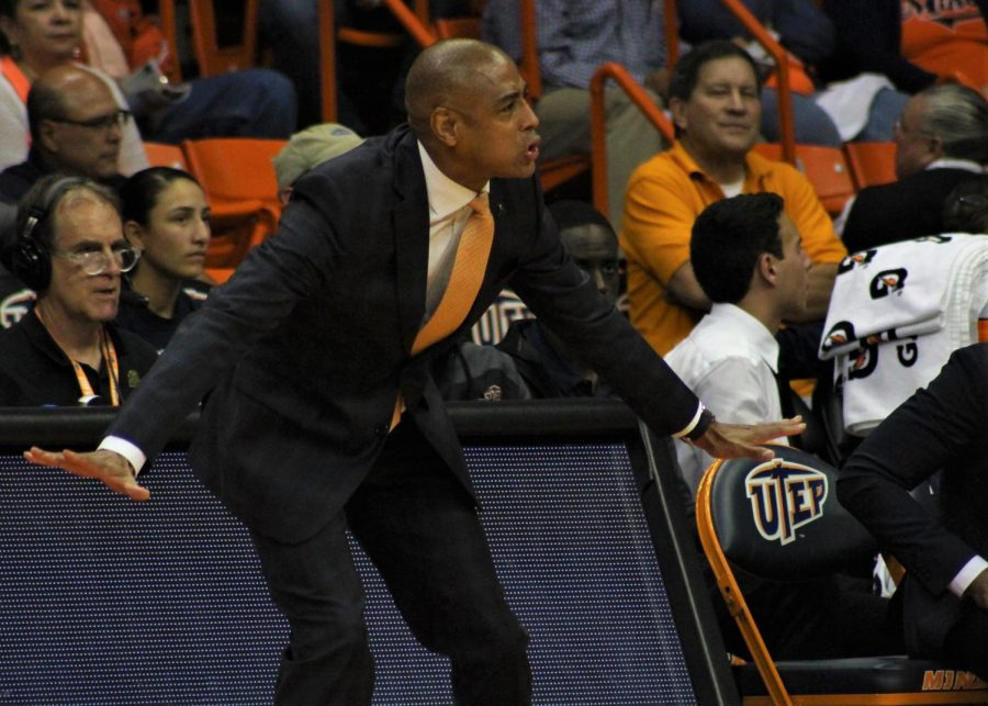 UTEP+Miners+men%27s+basketball+Coach+Rodney+Terry+on+his+first+game+of+the+season+against+UTPB+on+Tuesday%2C+Nov.+6.