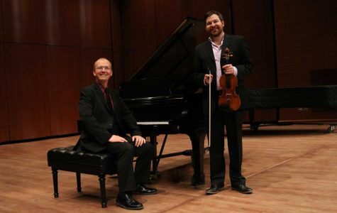 Musicians Stephen Nordstrom and Dominic Dousa performed on Thursday, November 8, 2018 at the Fox Fine Arts Recital Hall.