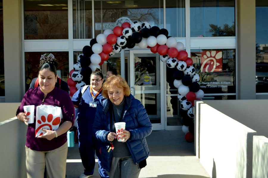 The ribbon-cutting ceremony took place at the new Chick-fil-A Wednesday, Jan. 23.