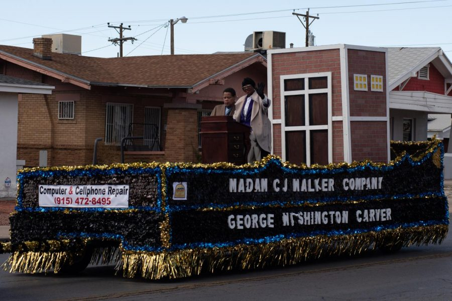 People celebrate Black History Month at a parade Saturday Feb. 23rd.