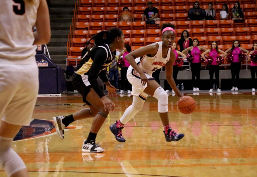 Senior forward Jordan Alexander scored 14 points against the Souther Miss Lady Eagles at the Don Haskins Center.