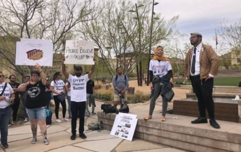 'Withdraw Wilson' protest at Centennial Plaza