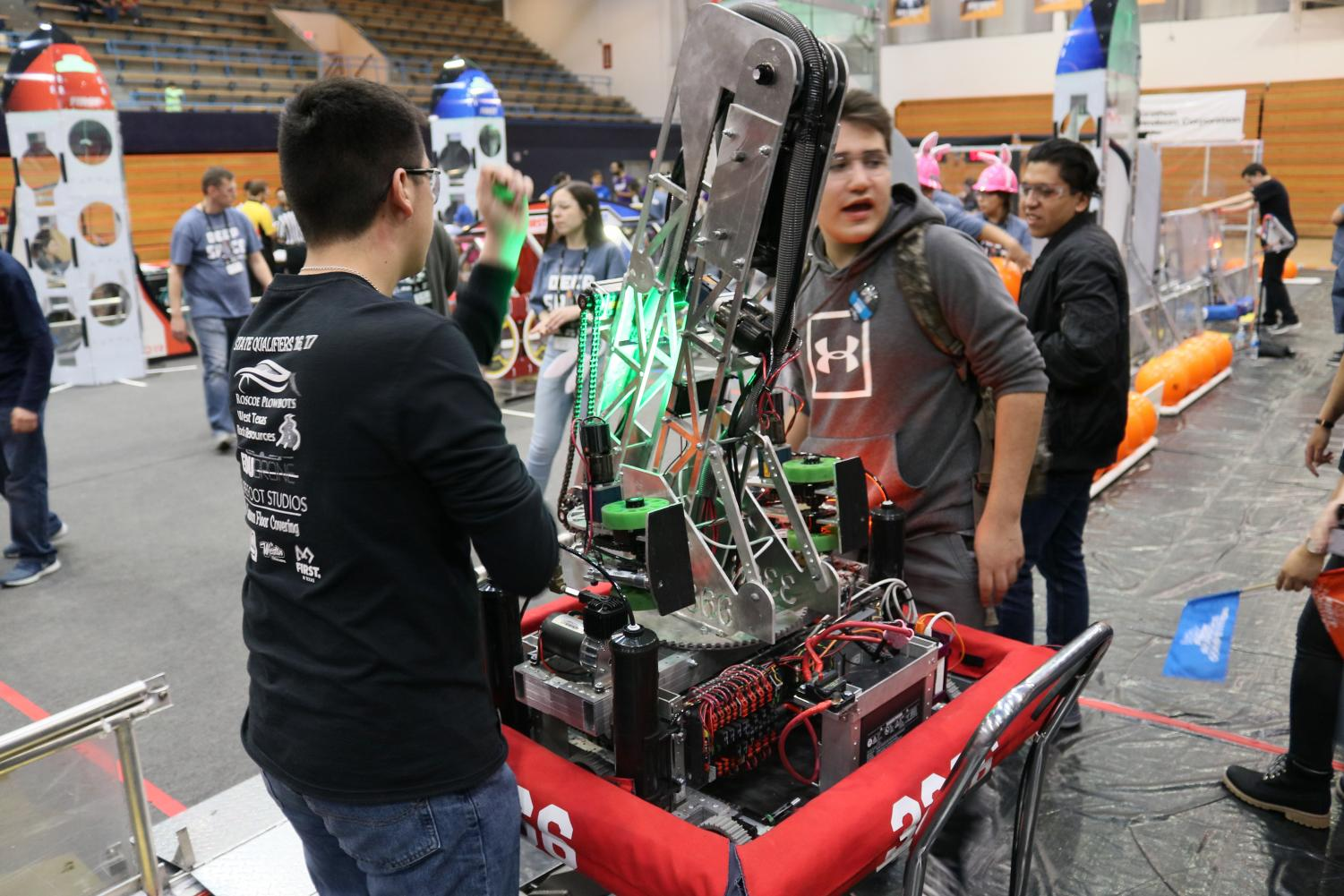 UTEP hsoted the FIRST Robotic Competition in Memorial Gym at the University of Texas at El Paso, Saturday, March 2, 2019.
