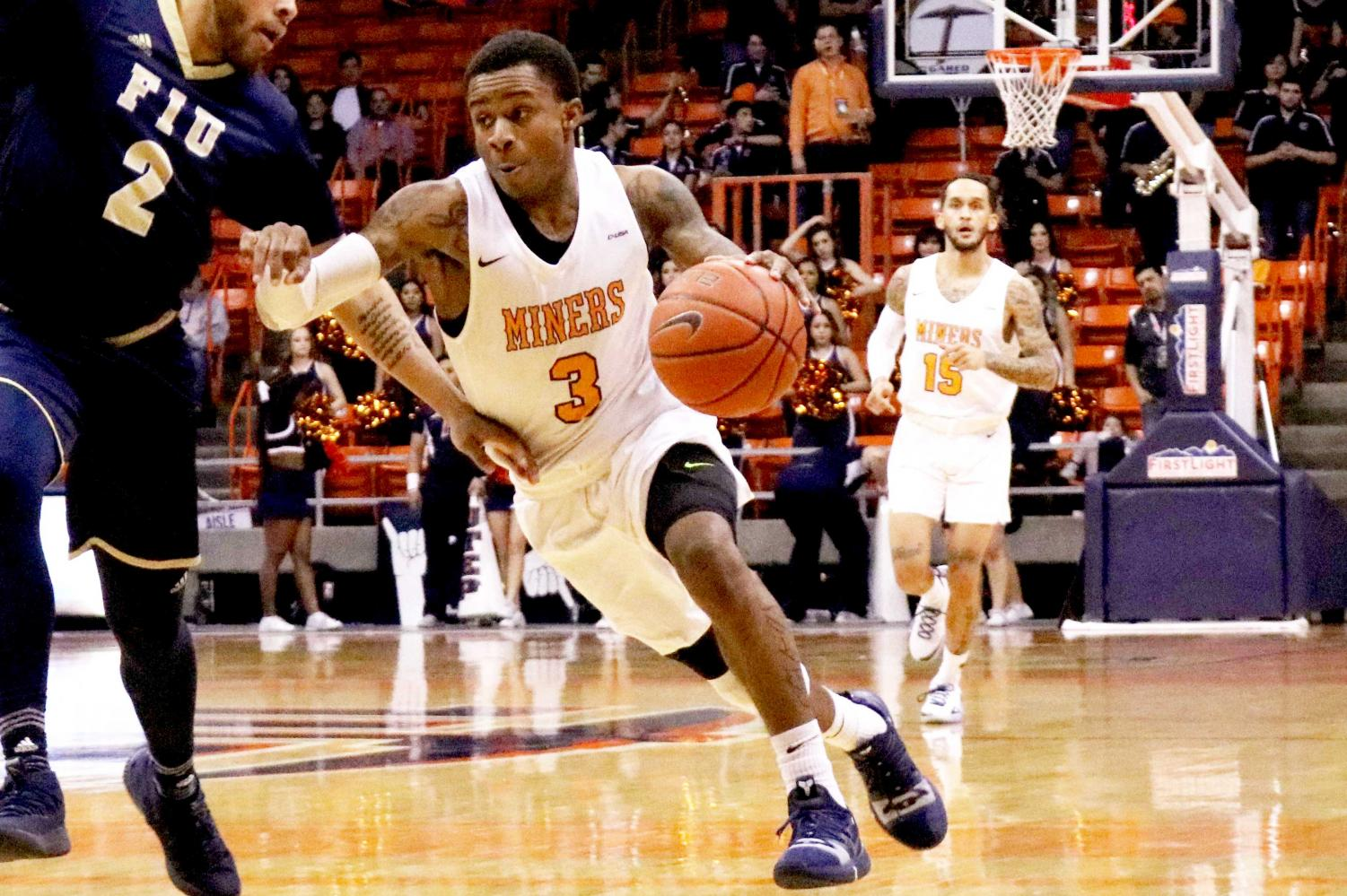 Sophomore guards Evan Gilyard (#3) and Kobe Magee (#15) announced through social media that they will be transferring from the UTEP men's basketball program.