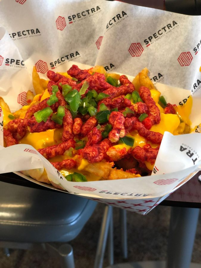 Diabolo Fries are Hot Cheeots with cheese and fries.