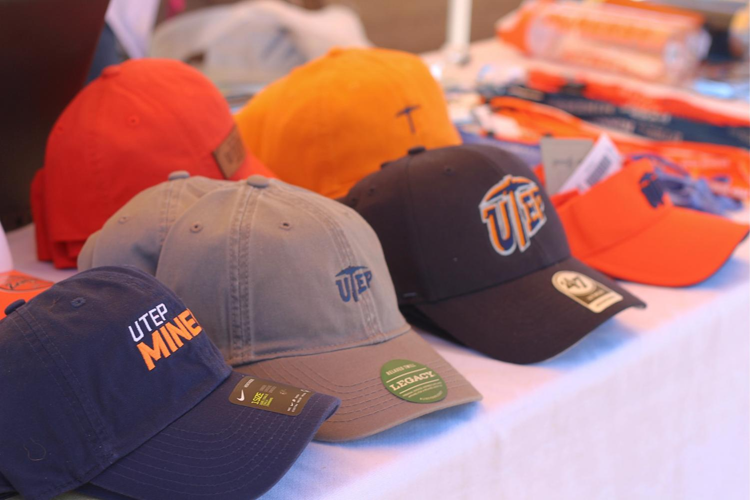 Shirts+and+hats+sale+at+the+celebration+of+UTEP%27s%C2%A0+Student+Government+Association+%28SGA%29+100+years+of+service+at+Centennial+Plaza.