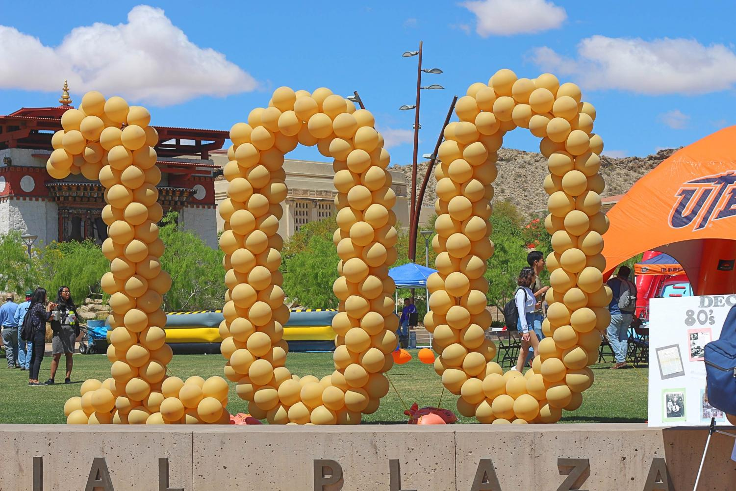 Celebration of UTEP's Student Government Association (SGA) 100 years of service at Centennial Plaza.
