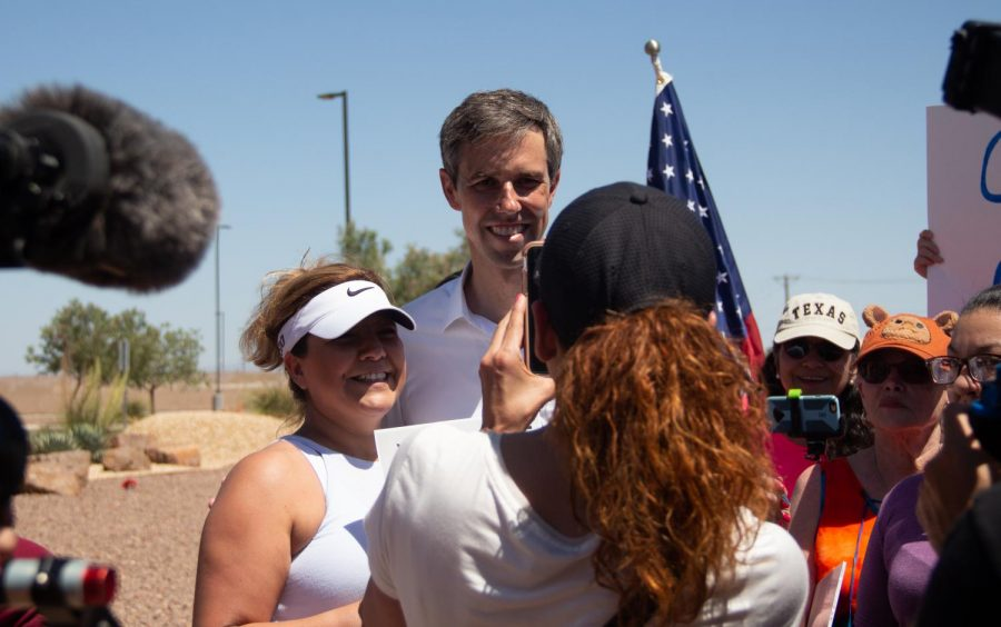 Democratic presidential candidate Beto ORourke takes times to take photos with his supporters at the Clint Border Patrol Station rally on Sunday June 30, 2019.