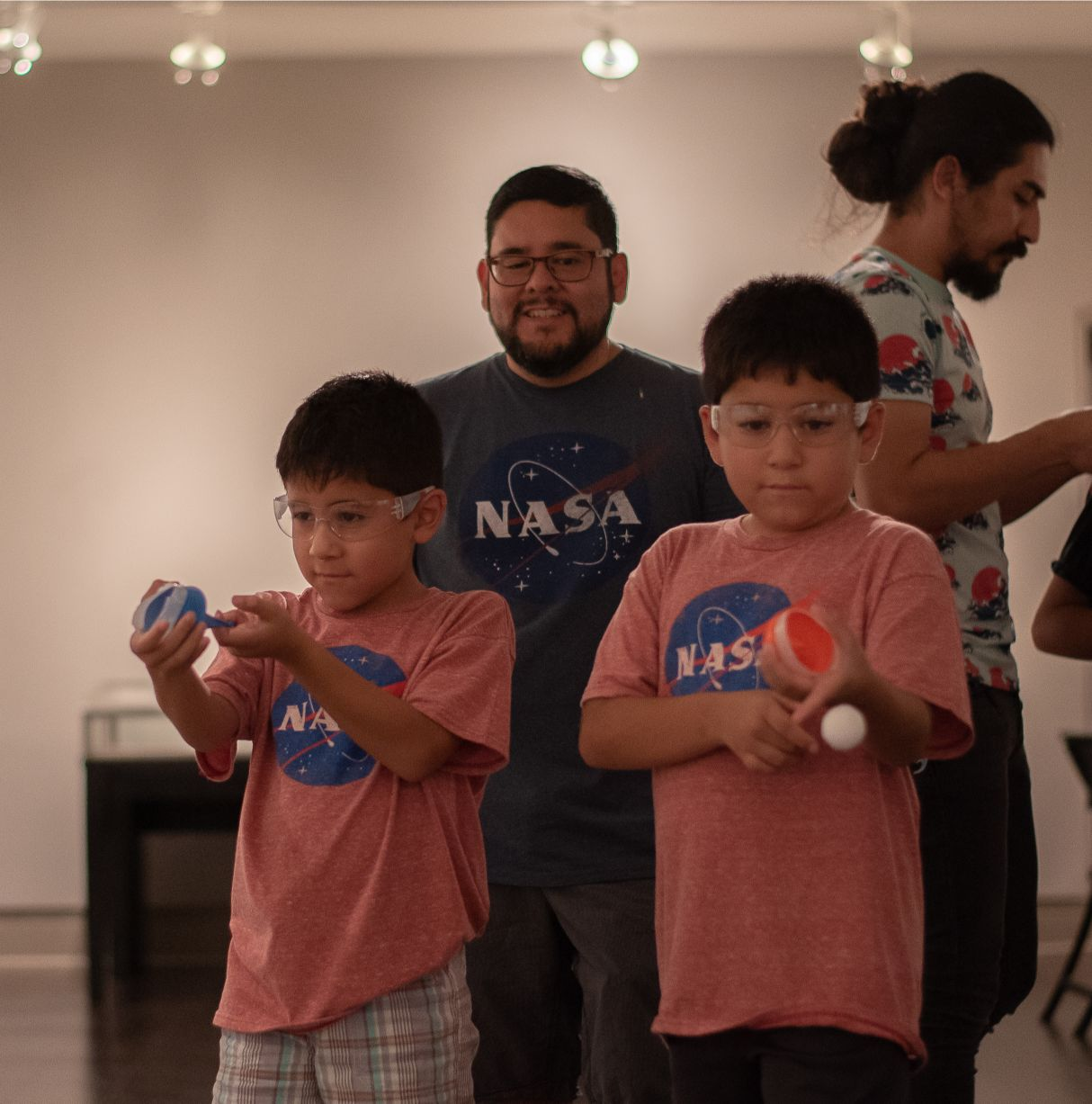 Children learn about different skills necessary for space exploration through the Inights Science Museum's at the 50th anniversary of the Apollo 11 Moon Landing celebration at UTEP.