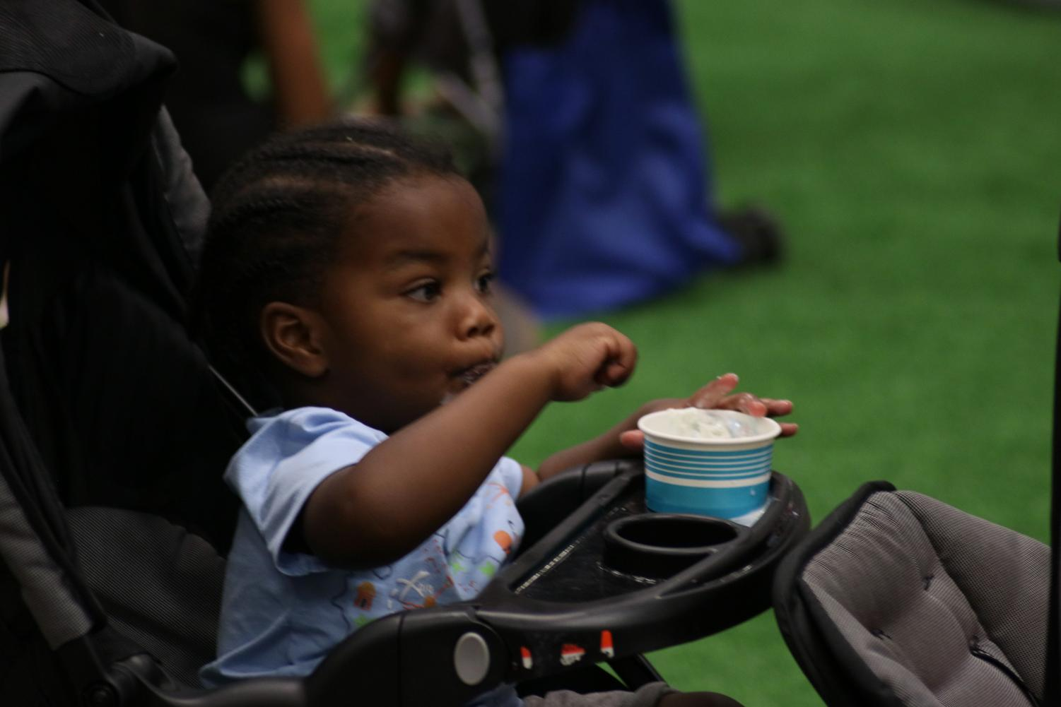 Kids enjoyed ice cream during the Ice Cream Festival in El Paso Convention Center on Sunday, June 20, 2019. Kids had the opportunity to make their own ice cream in different stands during the event.