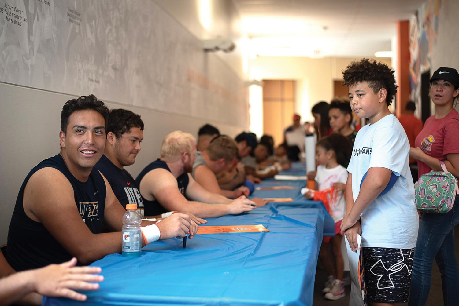 """UTEP athletes interact with fans on """"Fan Day"""" at Sun Bowl Stadium Aug. 24."""