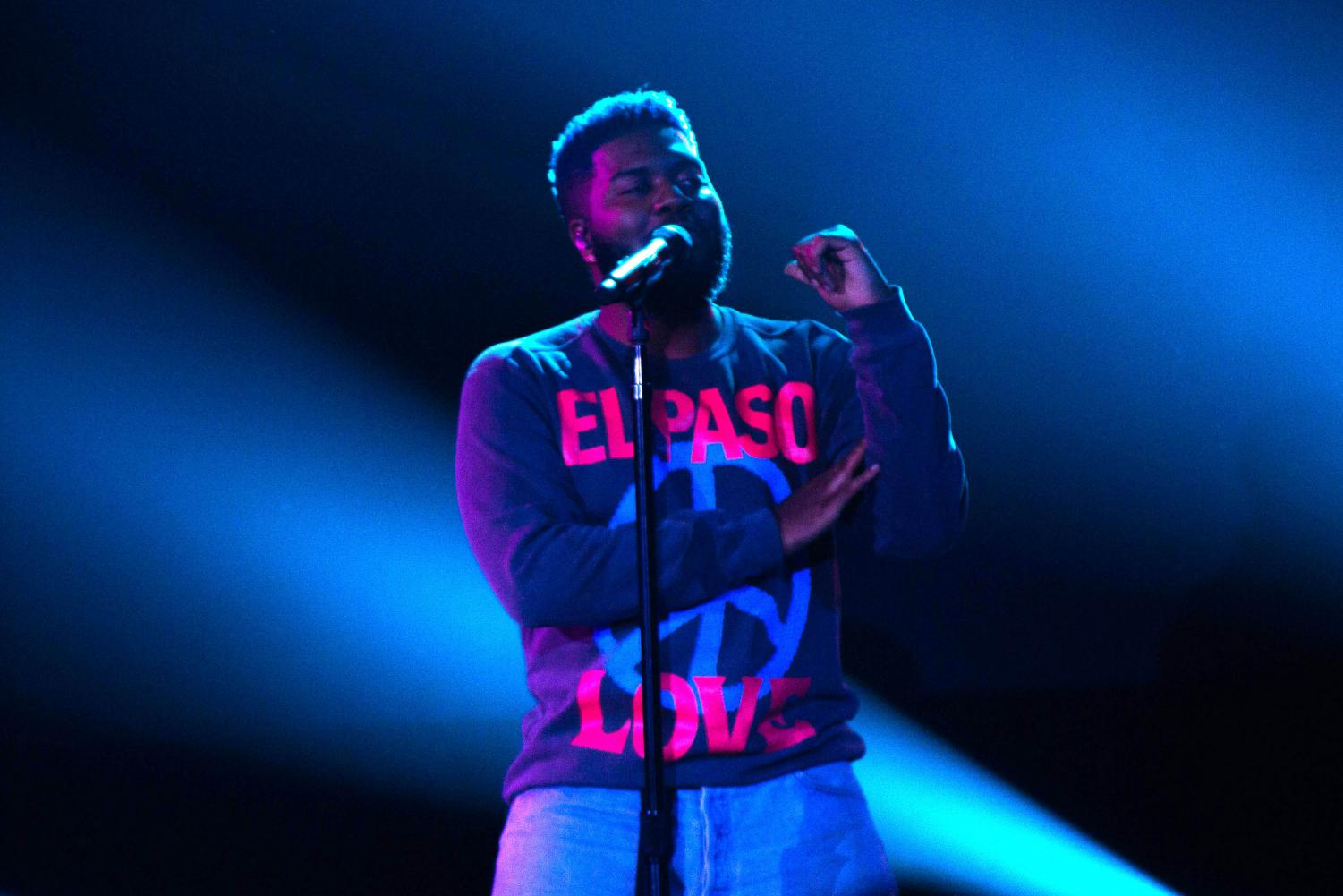 Khalid performs Twenty One for the Khalid & Friends benefit concert at the Don Haskins Center Sunday Sept. 1, 2019.