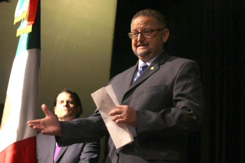 Mauricio Ibarra Ponce de Leon, Consulate General of Mexico in El Paso, presents Epoca de Oro Film Festival at UTEP Wednesday Sept. 4, 2019.