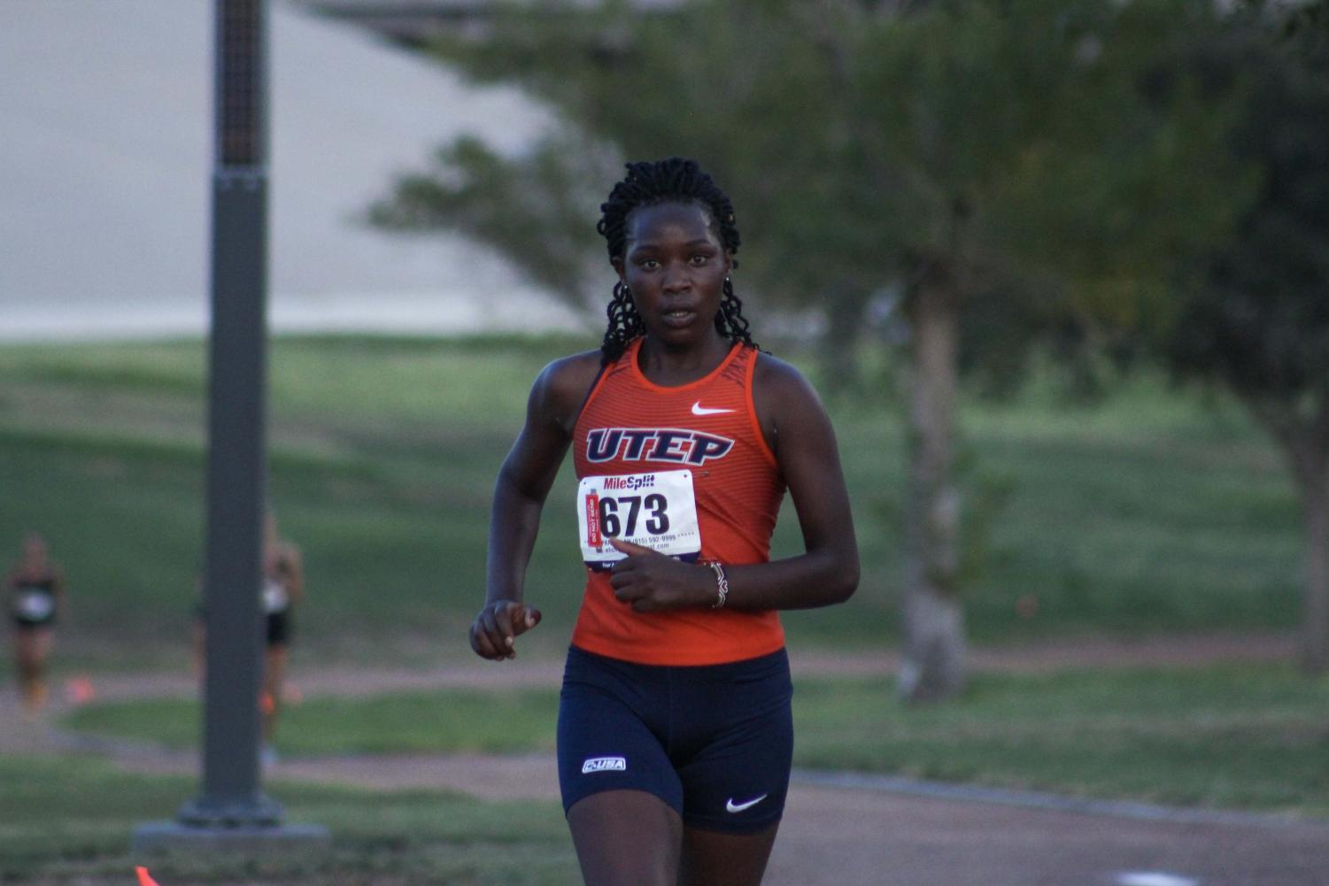 Junior, Carolyne Chepkosgei finished 4th place at El Chamizal on Sept. 13, 2019.