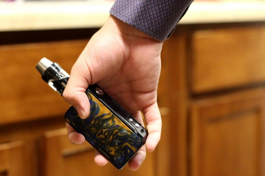 E-cigarettes work by heating up a liquid in order to produce an aerosol that users inhale into their lungs.