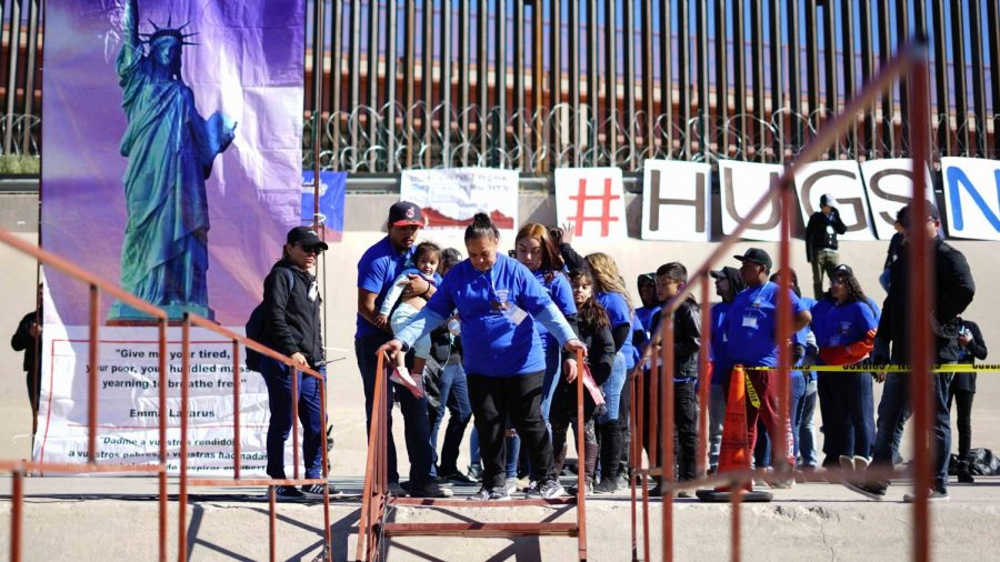 """The Mexican-American border opens its door to the annual """"Hugs Not Walls"""" event Saturday Oct. 26, 2019."""