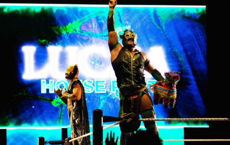 WWE stars Kalisto and Lince Dorado greet the crowd at the WWE Live Event in Don Haskins Center, Friday Sept. 27, 2019.