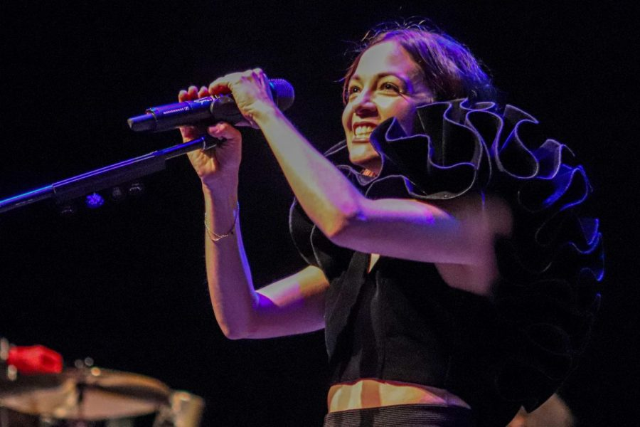 Mexican pop-rock singer and songwriter Natalia Lafourcade performs at The Plaza Theatre Performing Arts Center at El Paso, Texas Thursday Oct. 3, 2019.