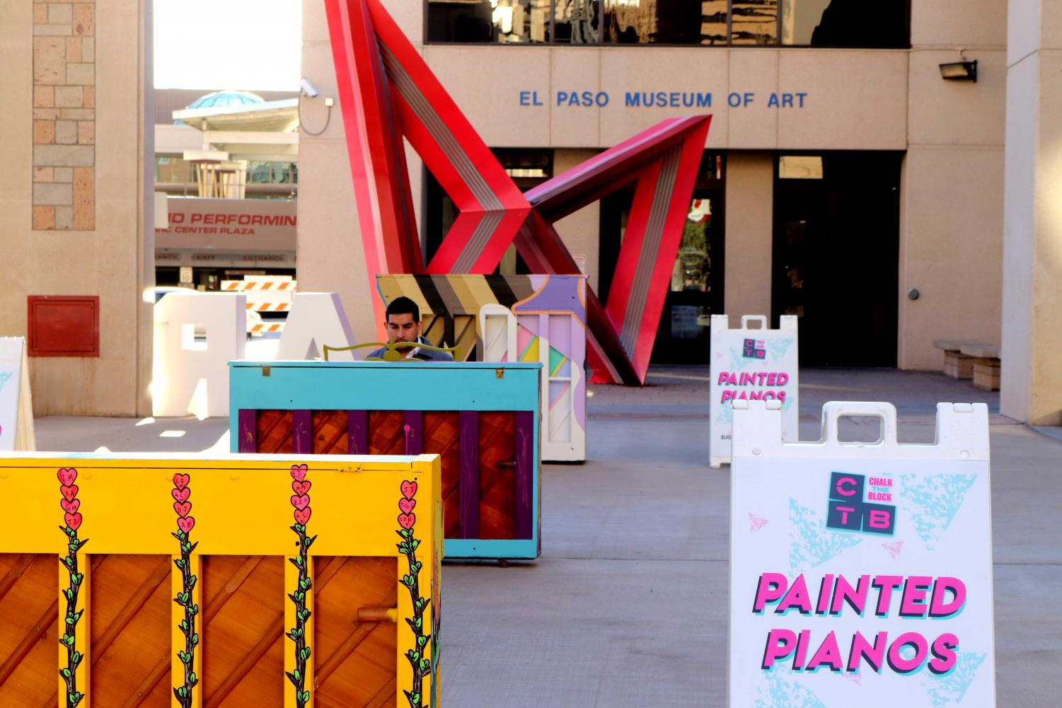 Local artist showcase their painted pianos at 2019 Chalk The Block, El Paso.