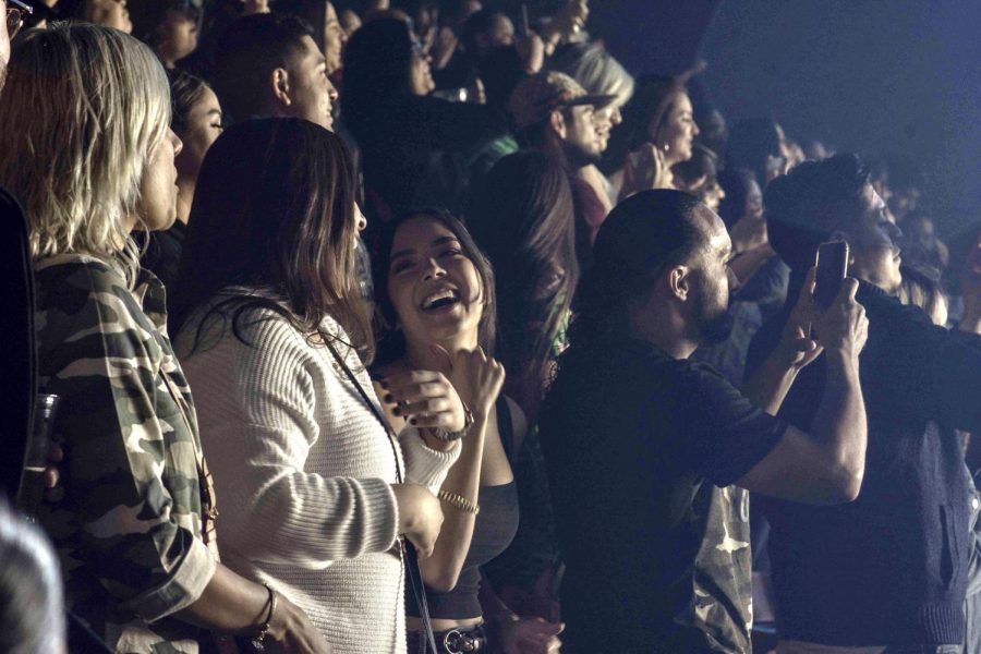Crowd sings at the J Balvin Concert. Friday Oct. 11, 2019.