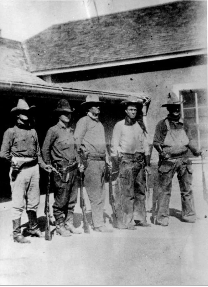 Texas Rangers at the Brite Ranch in Presidio County, 1918.