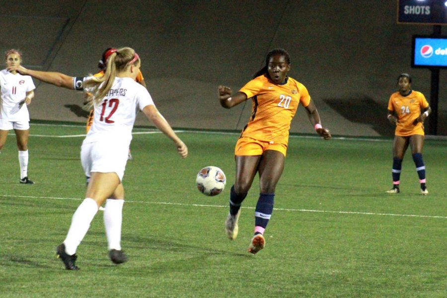 UTEP+women%E2%80%99s+soccer+vs.+WKU+at+El+Paso%2C+Texas.