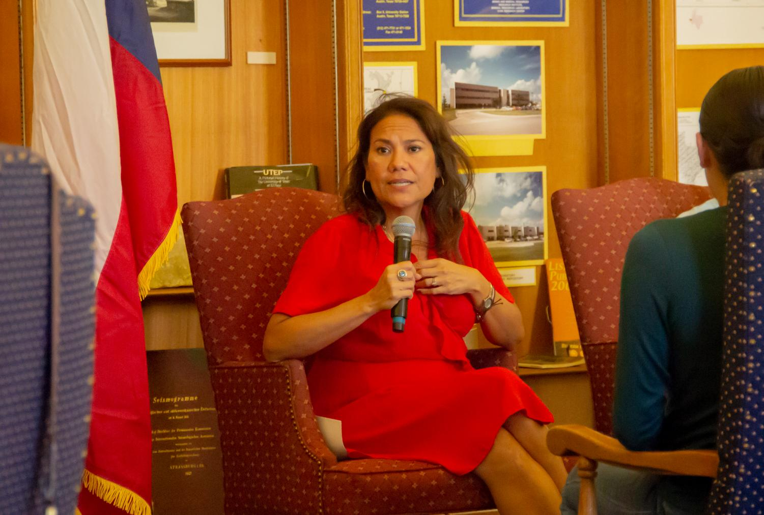 Congress representative of District 16 Veronica Escobar was invited by SGA to talk about the community and education on Oct, 7.