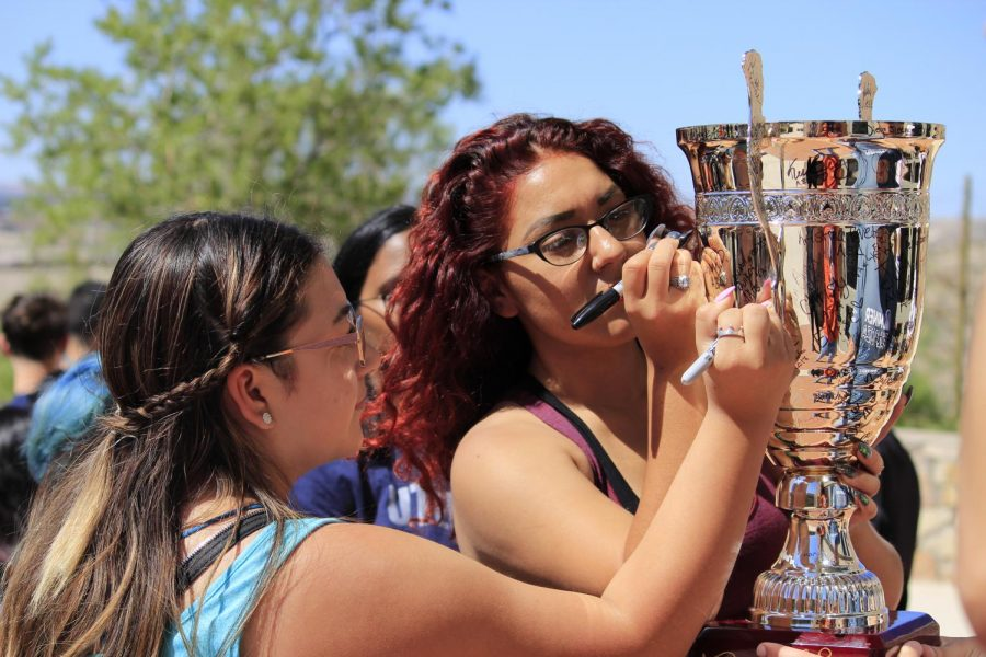 UTEP students represent their organizations at the RSOlympics Friday, Sept. 27.