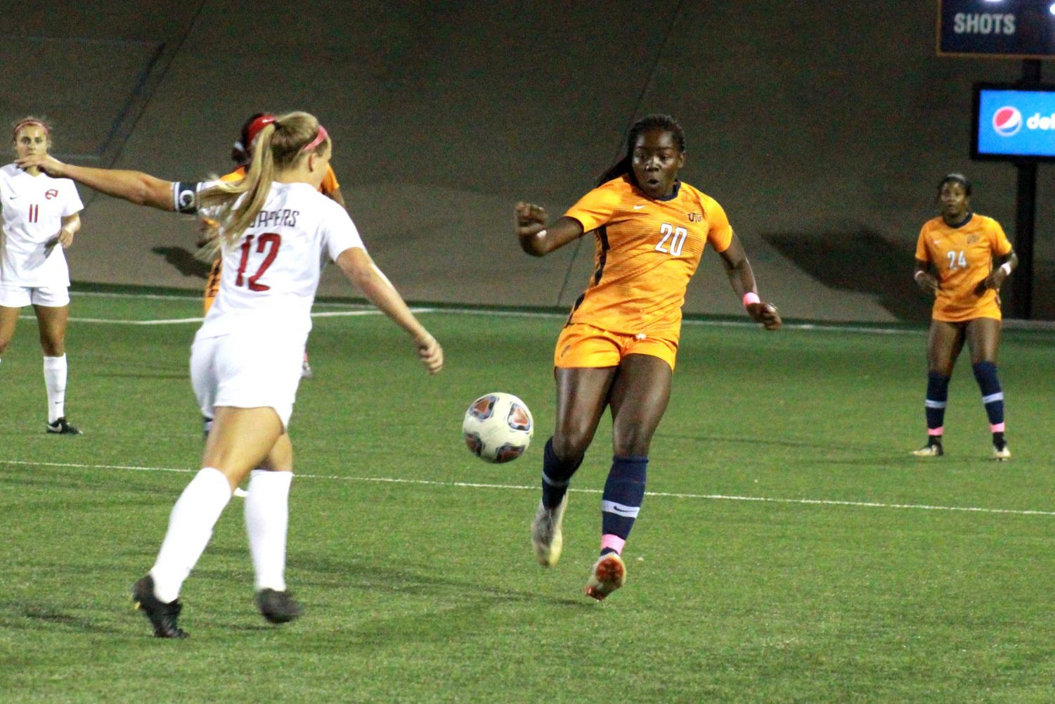 UTEP women's soccer vs. WKU at El Paso, Texas.