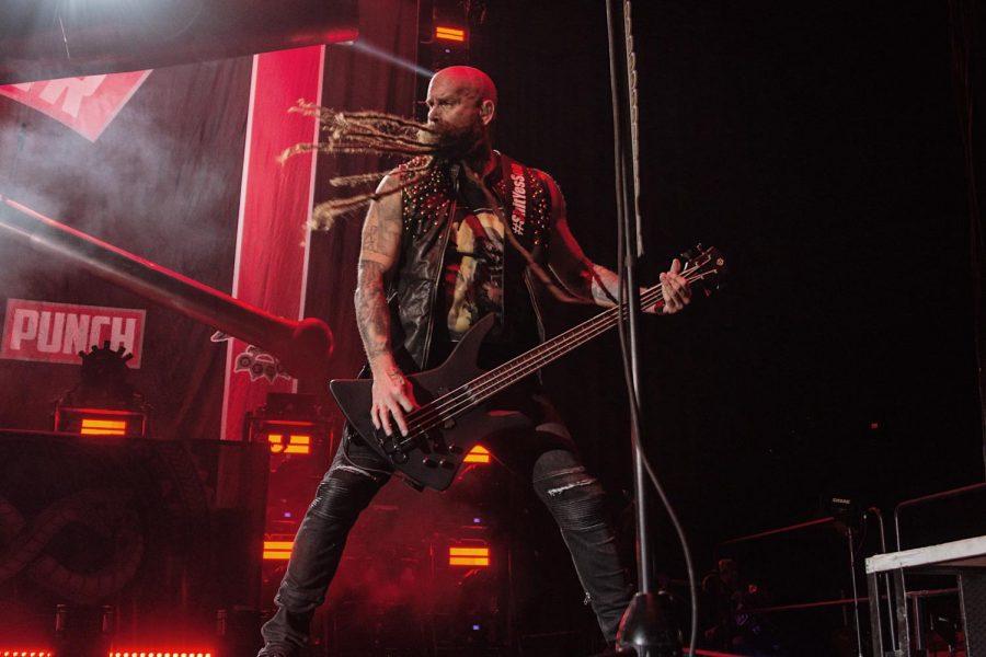 Chris Kael, Bass Guitar. Five Finger Death Punch. Thursday, November 7, 2019. Don Haskins Center.