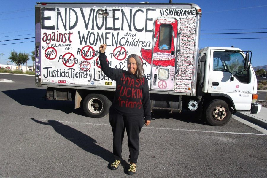 Amid a passionate 18-year-long journey, veteran activist Xan Joi cruised the streets of El Paso in a box truck covered in striking, colorful murals while visiting fellow activist, Cemelli de Aztlan Tuesday, Nov. 12.
