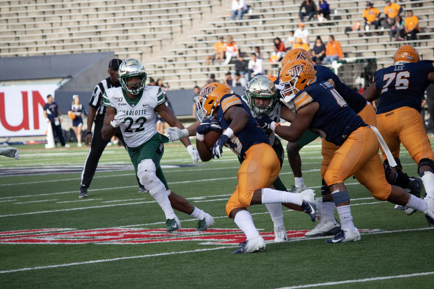 Leading 21-7 at the half over the Charlotte 49ers, the UTEP Miners were shutout in the second half allowing 21 unanswered points to its conference rival in a 28-21 loss. This loss was the eighth consecutive loss for the Miners.