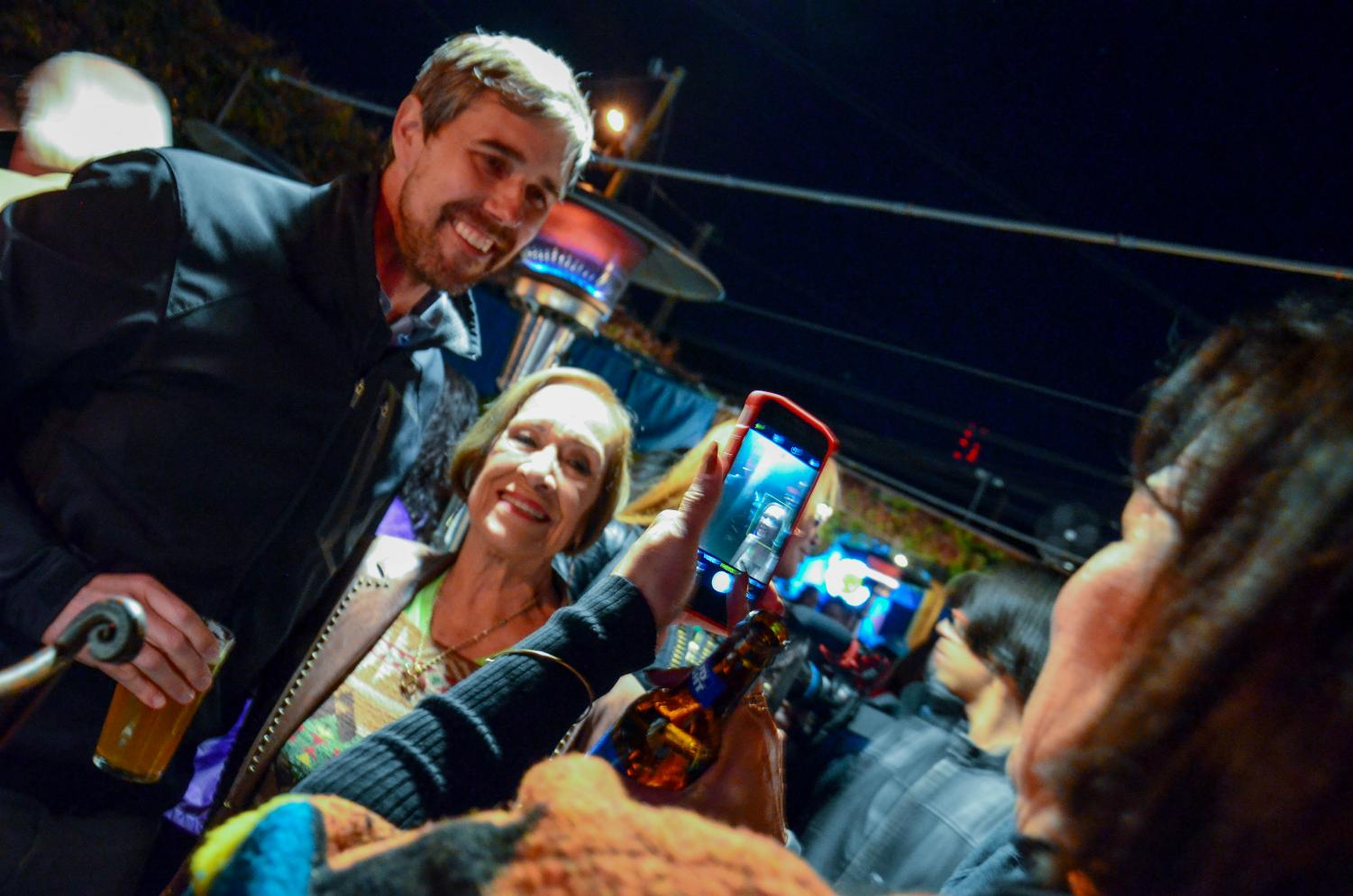 Rebecca Reza/ The Prospector Supporters of Beto O'Rourke gather to grab a photo and chat with the former Presidential candidate.