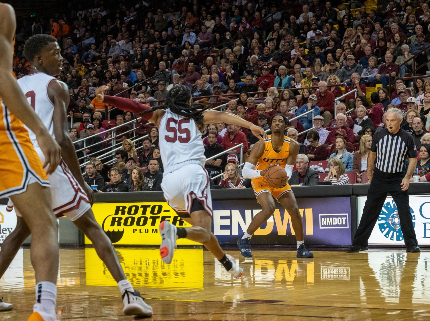 The Miners were defeated by longtime rival New Mexico State University (NMSU) Tuesdaynight.