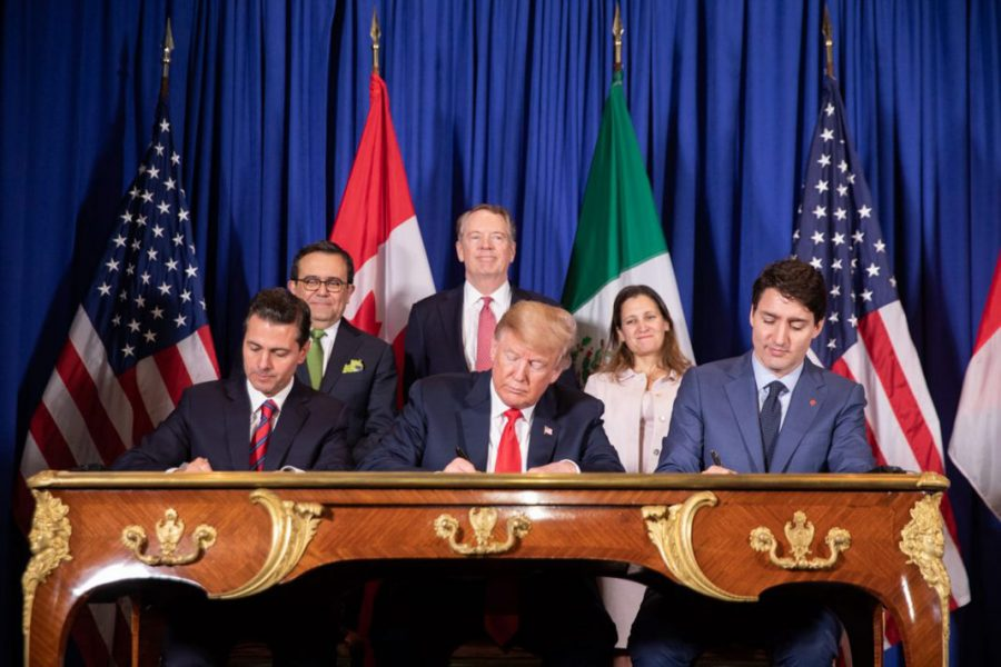 The Agreement between the United States of America, the United Mexican States, and Canada is a signed but not ratified free trade agreement between Canada, Mexico, and the United States.
